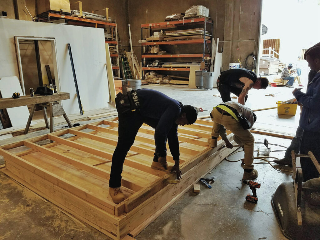 Trainees participating in POIC's pre-apprenticeship program have helped build the organization's offices in Rockwood and an 8-foot-by-11-foot garden shed in partnership with Growing Gardens for Davis Elementary School, among other projects.